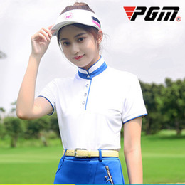 $enCountryForm.capitalKeyWord Australia - PGM High Quality New Women Golf Training Clothing Blue Red Breathable Quick-drying Sunscreen Shirts and Skirt Golf Suit