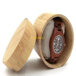 Men Watch Gift Box Australia - freeshipping Natural Bamboo Box For Watches Jewelry Wooden Box Men Wristwatch Holder Collection Display Storage Case Gift