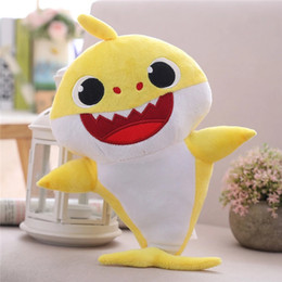 Dance Sing Toy Australia - Yellow Red Blue baby shark family sing and dance toys baby shark hot musical plush toy