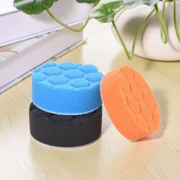 Discount sponge for washing cars - 3Pcs set 3 Inch Car Polishing Wash Brush Buffer Pad Kit Buffing Sponge Polishing Pads For Car Polisher Buffer