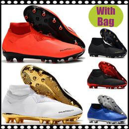 $enCountryForm.capitalKeyWord Australia - 2019 cheap Men High Ankle Football shoes Phantom VSN Elite DF AG gold Soccer boots PSG Phantom X Vision FG Soccer Cleats Outdoor