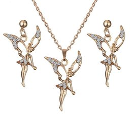 China European and American Style Fashionable Elf Water Drill Earring Necklace Set Jewelry for Daily Wear Exquisite Workmanship cheap elf earrings suppliers
