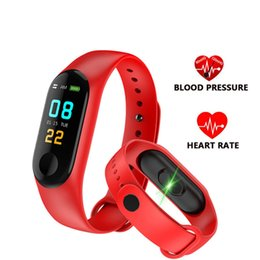 $enCountryForm.capitalKeyWord NZ - New M3 Smart Bracelet Fitness Tracker with Heart Rate Watches for MI3 Fitbit XIAOMI APPLE Watch Colorful LCD Display with Retail Box