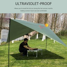 $enCountryForm.capitalKeyWord UK - Sun Shade Awning Ultralight Tarp Outdoor Camping Survival Sun Shelter Shade Awning Silver Coating Pergola Waterproof Beach Tent