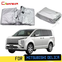 $enCountryForm.capitalKeyWord Australia - Cawanerl Car Cover MPV Outdoor Sun Rain Snow Protection Cover Windproof With Anti-Theft Lock For Mitsubishi Delica 2007-2019