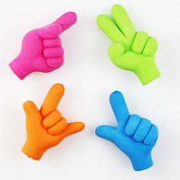 RubbeR eRaseR fRee shipping online shopping - Creative gesture rubber eraser Cartoon removable eraser kawaii stationery school supplies gift toy for kids penil eraser