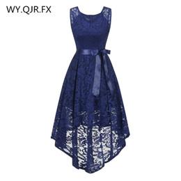 Gown Back Front UK - OML529Z#front short long back dark blue Bow Evening Dresses Classmate party dress prom gown wholesale fashion women