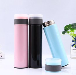 design storage boxes NZ - New Design 17oz Stainless steel Water Bottle Vacuum Insulation flasks thermos tumblers Eco-friendly portable with Tea Storage Box