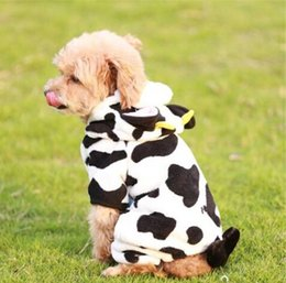 dog male diaper Australia - Free Shipping Wholesales 2019 Pet Dog Cow Style Cloth Costume Milk Cow for Dog Coat Winter Warm