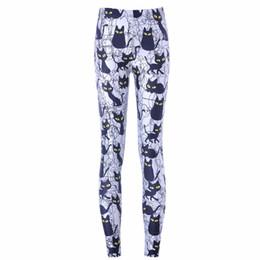 $enCountryForm.capitalKeyWord Australia - Free Shipping New Hot Sexy Women New Pants Womens Trousers Fashion Cute Cartoon Black Cat Pant Capris Cute New Fitness
