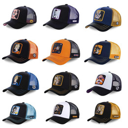 dragon ball z novelties Australia - New Dragon Ball Z Mesh Hat Goku Baseball Cap High Quality Black & Yellow Curved Brim Snapback Cap Gorras Casquette
