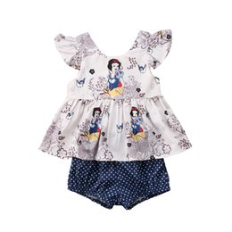 Wholesale Snow Floral Print Baby Girls Tops T shirt Shorts Briefs Outfits Set Clothes
