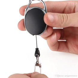 stainless steel retractable key chain NZ - 10Pcs lot Outdoor Telescopic Wire Rope Key EDC Burglar Keychain Tactical Retractable Chain Return key Ring Holder Camping Tools