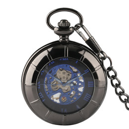 $enCountryForm.capitalKeyWord Australia - Roman Number Dial Mechanical Pocket Watch Vintage With Necklace Pendant Chain Classic Gifts Clock Pocket Watch Chains and Fobs