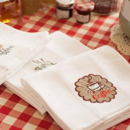 White Cotton Napkins Australia - Nordic style pure white cotton embroidery western napkin table mat tea towel food photography background cloth