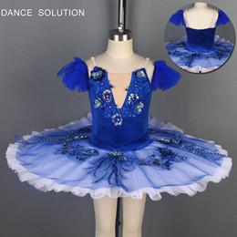 Woman Tutus Australia - BLL102 Navy Blue Velvet bodice Ballet Tutu Girl&Woman stage performance ballerina Ballet Tutu Costume Dance Dress