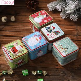 $enCountryForm.capitalKeyWord Australia - Taoup Metal Christmas Candy Boxes Santa Claus Home Decor for Christmas Gift Boxes Present Holder Bags Noel New Year Table Decor