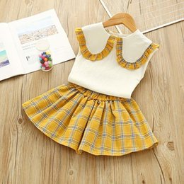 $enCountryForm.capitalKeyWord Australia - Girls clothes sets summer kids cotton fashion tops+tutu dress 2pcs tracksuits for baby girls kids birthday party clothing suits outfits
