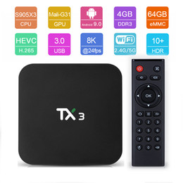 android box 5g 2020 - Tanix TX3 Android 9.0 TV BOX Quad Core Amlogic S905X3 4GB RAM 64GB ROM Support 2.4G 5G Wifi DLNA Bluetooth