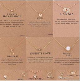 $enCountryForm.capitalKeyWord Australia - Kendra Scott Horseshoe Clover Clavicle Short Necklace Dogeared 3 Circles Bone 8 Word Ring Pendant Pearl Key Lotus Love Necklace