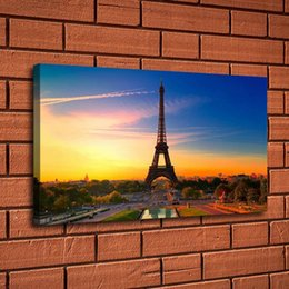 $enCountryForm.capitalKeyWord Australia - Paris Eiffel Tower Scenery,Home Decor HD Printed Modern Art Painting on Canvas (Unframed Framed)