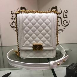 $enCountryForm.capitalKeyWord NZ - New designer luxury handbags caviar calf skin plaid leather chain crossbody bag top quality ladies brand shoulder bags black blue white red