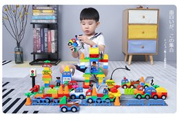$enCountryForm.capitalKeyWord Australia - Building Blocks Plastic Digital Box 106 digital train car building blocks kids toys Children's Educational Intelligence Safe Environmental
