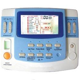 Toptan satış 2019 Yeni Ücretsiz kargo EA-VF29 ultrason fizyoterapi makinesi ile onlarca akupunktur lazer tedavisi cihazı