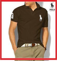 Polo Ralph Man Australia - Hot 2019 Ralph Polo Shirt Men Big Horse Camisa Solid Short Sleeve Summer Casual Camisas Polo Mens shipping free