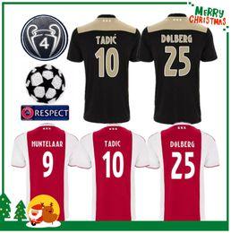 a91897c76 Camiseta de fútbol Ajax local rojo blanco 18 19 Camiseta de Ajax lejos 2018  2019 Personalizado   10 KLAASSEN NOURI fútbol Club de Holanda uniforme