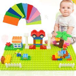Big Blocks For Kids Australia - Big Size Blocks Base Plate 32*16 Dots 51*25.5cm Baseplate DIY Building Blocks Toys For Children Compatible LegoINGly Duplo Brick