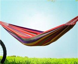 Venta al por mayor de Hamaca de lona Swing Tree Bed Net acampar al aire libre suministros para una sola persona Anti-vuelco Enviar una bolsa de almacenamiento de cuerda de amarre