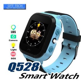 gps tracker kids wholesale NZ - 2019 Touch Screen Q528 GPS Tracker WatchAnti-lost Children Kids Smart watch LBS Tracker Wrist Watchs SOS Call For Android IOS P-BS