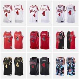red basketball jerseys NZ - 1984-2020 Jerry Sloan Jerseys 100% #4 Floral fashion black jersey Red White Black Customize stitched vintage Basketball Jersey