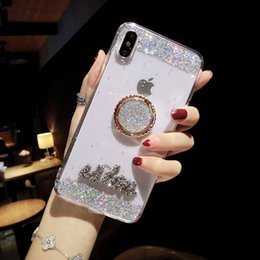 Wholesale Mytoto new brand flash powder glitter diamonds bracket cover case for iphone S plus plus plus X XS XR Max silicone phone couqe