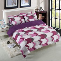 Plain Pink Black Bedding UK - Bedding sets Geometric Lattice Plain Quilt Cover Pillowcase Without Sheet Cover Queen King Twin Size#M3Y5