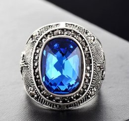 Gift Cluster Rings Australia - New arrival women fashion jewelry vintage gemstone cluster ring birthday festival new year gift
