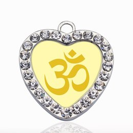 $enCountryForm.capitalKeyWord Australia - OM YOGA CIRCLE CHARM Charms Pendants Alloy Pendant Fit for Women Bracelet & Necklace jewelry accessories Making