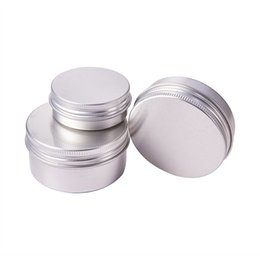 Chinese  100PCS 30g 50g 60g Aluminum Jar with Screw Cap Makeup Face Mask Eyeshadow Cream Lotion Shampoo Soap Glitter Powder Travel Pot Box manufacturers
