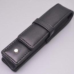 Wholesale prices chool supplies Good Quality Pens case gift pen bag black leather Famous pu pouchs on Sale