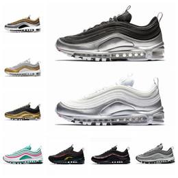 check out d41e1 e572d Nike air max 97 airmax 97 2018 Spruce Aura Metallic Pack 97 chaussures de  running pour hommes Bleu entraîneur invaincu 97s Midnight Navy Femmes Camo  Sports ...
