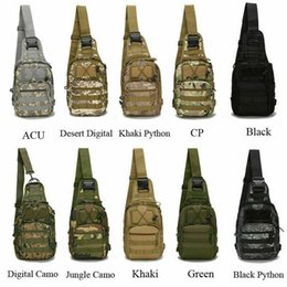military messenger bags women NZ - Molle Sling Chest Bag Military Tactical Canvas Messenger Crossbody Shoulder Backpack Camouflage Outdoor Sport Cycling Bags Satchel Day Packs