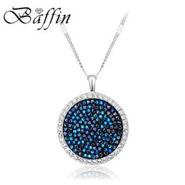 $enCountryForm.capitalKeyWord Australia - Baffin Luxury Genuine Crystals From Swarovski Maxi Round Pendant Necklace Silver Color For Women Party Wedding Accessories Gifts J190531