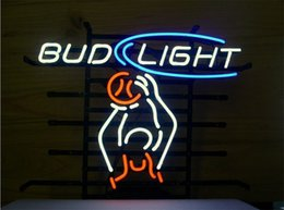 bud light beer neon sign Australia - New Star Neon Sign Factory 17X14 Inches Real Glass Neon Sign Light for Beer Bar Pub Garage Room Bud Light Basketball.