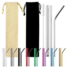 special straw NZ - Special for 304 stainless steel straw manufacturers customized food grade titanium plated color metal tea straw foreign trade