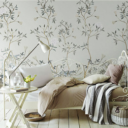 $enCountryForm.capitalKeyWord Australia - Newest 3D 8d Wall Paper Chinese Pattern Paper Hand-painted Flower Wallpaper wall sticker For living room Wall covering Decor