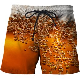 Discount wholesale swimwear brands - BIANYILONG 2019 Cola bubble Printed Beach Shorts Men Board Shorts 3d Homme Men Short Plage Brand Quick Dry Swimwear Drop