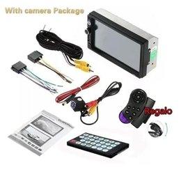 Audio Bluetooth intégré gratuit Télécommande sans fil gratuit 8 Go GPS Carte Carte 7 pouces Car Auto Navigation GPS MP5 Car Stereo en Solde
