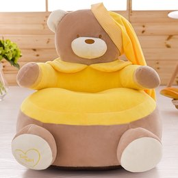 games chairs UK - Baby Chair Cushion Sofa Kids Children Nursery Furniture# Nursery Store Baby Portable Seat Bear Cartoon Crown Seat Game Plush Only Cover No F