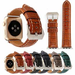 $enCountryForm.capitalKeyWord Australia - New Crocodile Genuine Leather Strap For 42mm 38mm Apple Smart Watches Strap Belt Bracelet Stylish Elegant Temperament Business Casual Trend
